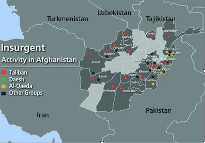 Экстремистские группировки на территории Афганистана